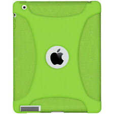 NEW AMZER SILICONE SOFT SKIN FIT CASE PROTECTIVE COVER FOR APPLE iPad 2 - GREEN