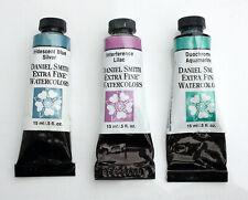 3x 15ml professional watercolour DANIEL SMITH Extra Fine / IRRIDESCENT DUOCHROME