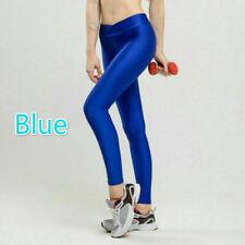 Women Sport Leggings Shiny Skinny Stretchy Fitness Yoga Pants Trousers Casual
