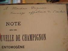 Henri GADEAU DE KERVILLE Note sur (...) champignon Stilbum Kervillei 1884 Envoi