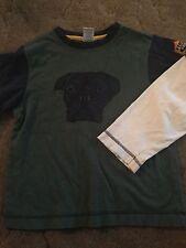 Gymboree Firehouse Hounds Boys Shirt Size 6 Dog Puppy Green