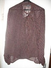 Flowing see-through vintage blouse with full sleeves by Apricot Size 12