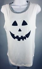 It Love Closet Los Angeles Sleeveless Shirt Halloween Jack O Lantern Size Small