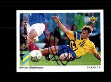 Kennet Andersson Svezia Upper Deck sammelcard WM 1994 ORIGINALE SIGN + a 157769