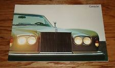 Original 1977 Rolls Royce Corniche Sales Brochure 77 Saloon Convertible