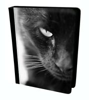 Black Cat Mysterious Wild Animal Tablet Leather Case Cover