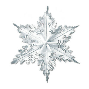 The Beistle Company Metallic Winter Snowflake ( Pack of 12) Christmas product