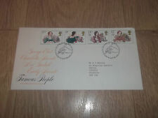 FIRST DAY COVER ROYAL MAIL FAMOUS PEOPLE ~ 9 JULY 1980