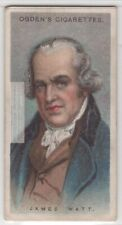 James Watt Steam Engine Scottish Inventor Engineer 90+ Y/O Trade Ad Card