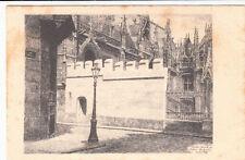 ROUEN le mur crénelé du palais de justice dessin à la plume A. Goulon