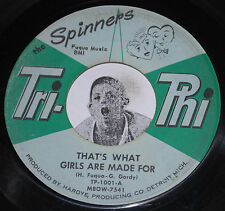 R&B Soul 45~THE SPINNERS~Heebie Jeebie's /That's What Girls Are Made For~Tri-Phi