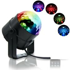 Sound Active RGB LED Stage Light Crystal Ball Disco Club DJ Party