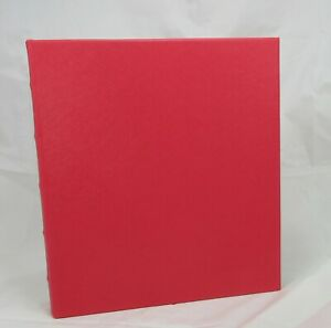 Graphic Image Photo Album Large 10x12 Ring Binder Clear Pkts Coral Red