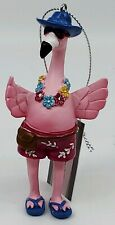 Midwest CBK Tropical Vacation Pink Flamingo Christmas Ornament