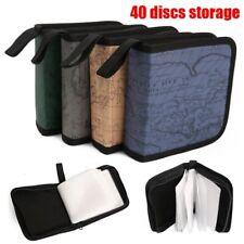 40 CD DVD Storage Wallet Car Disc Holder Carry Case Pocket Protector Sleeve Bag