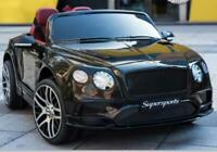 LICENSED  Bentley Continental Super Sports KIDS RIDE ON CAR BOYS GIRLS Black .