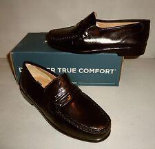 Nunn Bush Men's Black Bentley Leather Slip On Loafer Shoe SIZE NIB med and wide!