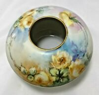 "Favorite Bavaria Yellow Rose  Hair Receiver Porcelain 4.25""W x 2.5""H Vintage"