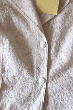 QVC IVORY LACE JACKET NWT 3X LINED DIALOGUE LABEL EMBROIDERED COTTON $60 RTL NOS