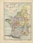 Antique Print - France At The Accession Of Louis XI 1461