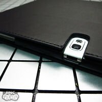 Genuine Leather Book Case Cover for Samsung SM-P550NZAAXAR Galaxy TabA/Tab A 9.7