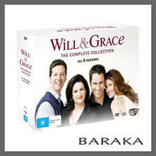 WILL & AND GRACE Complete Seasons Series 1 2 3 4 5 6 7 8 DVD BOX SET R4 Boxset