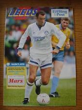 07/09/1991 Leeds United v Manchester City  (Team Changes)