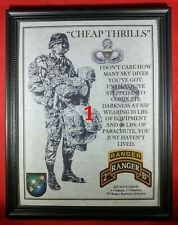 """Mc-Nice: Army Airborne """"Cheap Thrills"""" Ranger Framed Personalized"""