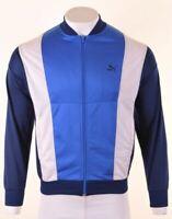 PUMA Mens Tracksuit Top Jacket Small Blue Polyester Vintage IZ19