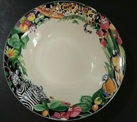 """Sue Zipkin Rain Forest  7 1/4"""" Soup Cereal bowl by Vitromaster light scratching"""