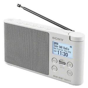 SONY XDR-S41D - WHITE Portable DAB+/FM Clock Radio - BRAND NEW