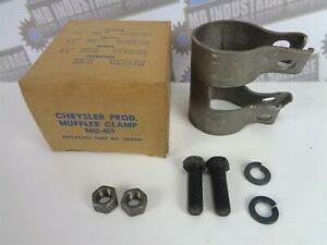 1935-56 - CHRYSLER Products 6 Cyl & V-8 Cyl - Tail Pipe End Clamp - NOS,Complete