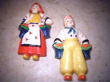 vintage kitchen decor wall hangs 40's 50's Dutch boy and girl
