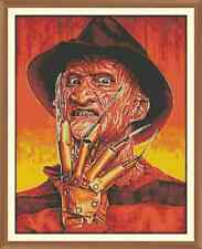 Freddy kruger x1 CROSS STITCH CHART 12.0 x 9.4 Inches