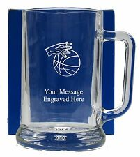 Personalised Basketball Pint Glass Tankard Birthday Free Gift Box GT22