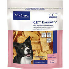 CET Enzymatic Oral Hygiene Chews for Large Dogs 25-50lbs Virbac
