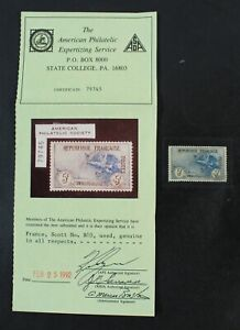 CKStamps: France Stamps Collection Scott#B10 Used APS Cert