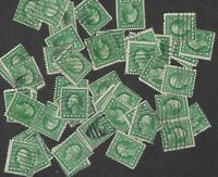 Postage Stamps For Crafting: 1910s-20s 1c George Washington; Green; 50 Pieces