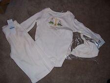 Nwt Boys Baby Hq Libra Turtle Design 3 Piece Set Top / Pants /Hat 6-9 Months