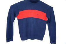 Polo Ralph Lauren sweater men med blue w/ red stripe l/s turtle neck pullover
