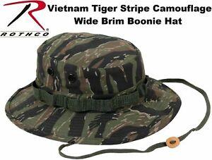 Vietnam Tiger Stripe Camouflage Military Wide Brim Bucket Hat Boonie Hat 5816