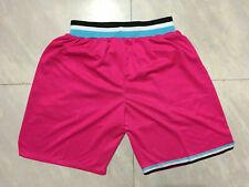 Men's NWT Pink Stitched Miami Heat Basketball Shorts pants NBA