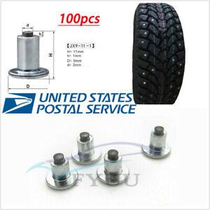 100 Pcs Set Universal Car Truck Tire Stud Spike Wheel Tyres Snow Chains Stud