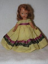 Sweet Face Vintage Bisque Nancy Ann Story Book Doll With Auburn Hair