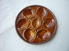 lot de six assiettes à huitres saint clément 4589 comme neuves