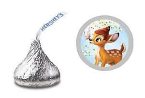 108 BAMBI HERSHEY KISS LABELS STICKERS BIRTHDAY PARTY or Baby Shower FAVORS