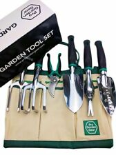 Garden 6-piece Gardening Tool Set with tote bag shovel rake fork weeder scissors