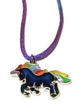 NEW Unicorn Rainbow Mood Necklace Color Change Pendant Liquid Crystal Thermo