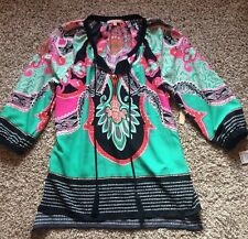 NWT! Gibson and Latimer Floral Paisley Boho Top Shirt Blouse- L $69. Pretty!