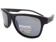 1469b897a785 POLAROID small fit Rubberised Matte Black Sunglasses Dark Grey Polar  PLD6015 YYV